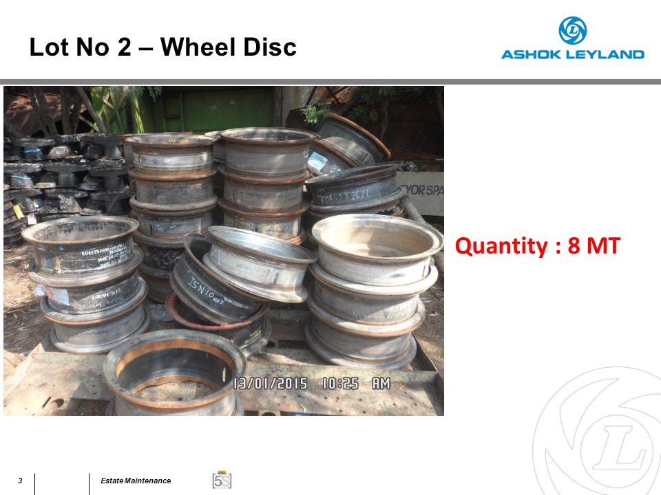 44Estate Maintenance Quantity : 40 MT Lot No 31 – Assorted Scrap