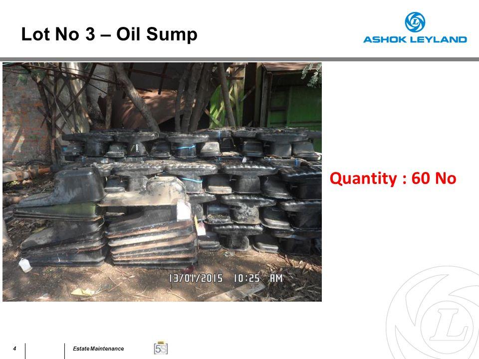 45Estate Maintenance Quantity : 40 MT Lot No 31 – Assorted Scrap