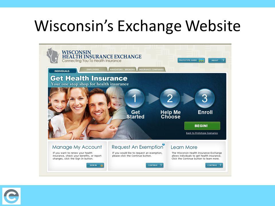 Wisconsin's Exchange Website