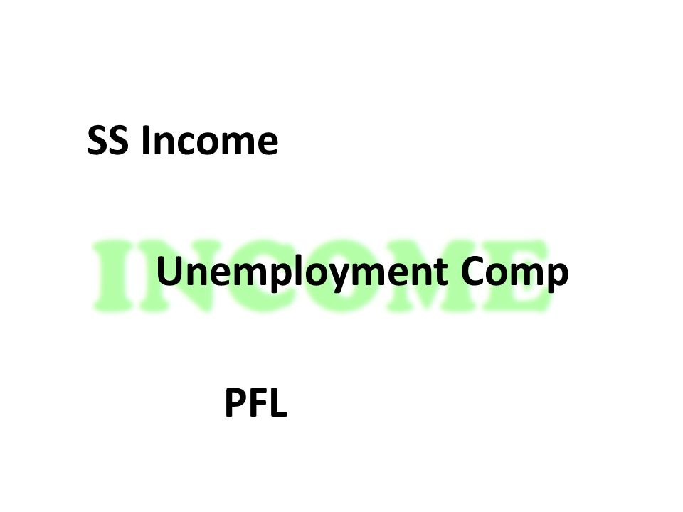 SS Income Unemployment Comp PFL