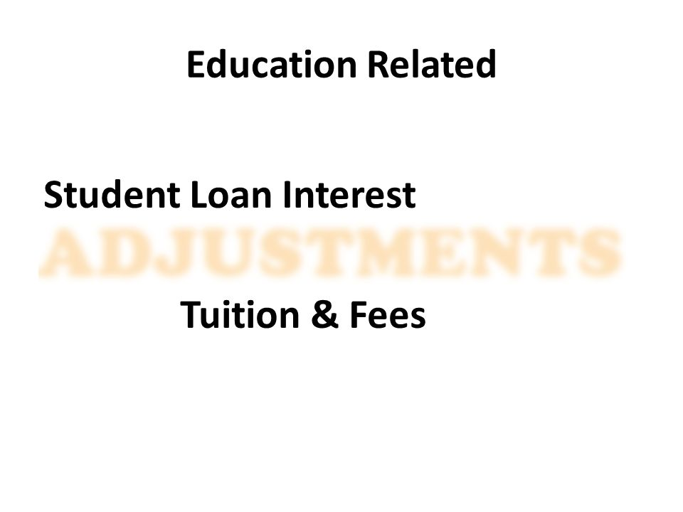 Education Related Student Loan Interest Tuition & Fees