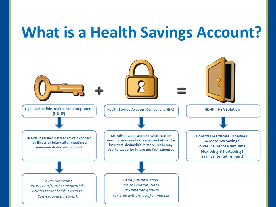 HSA Key Features Pre-tax contributions.HSAs are owned individually Funds roll over year to year.