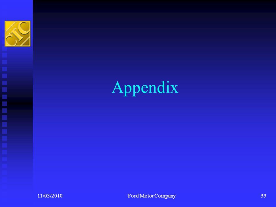 Appendix 11/03/2010Ford Motor Company55