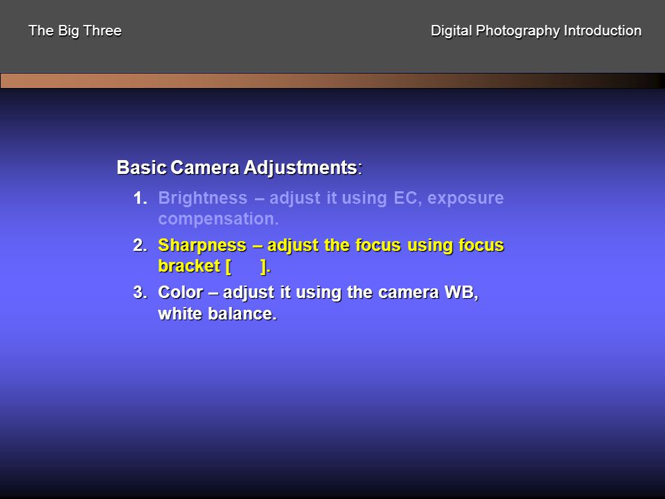 Focus on Focus: Most blurry images are due to camera movement which can be traced to four factors.Most blurry images are due to camera movement which can be traced to four factors.