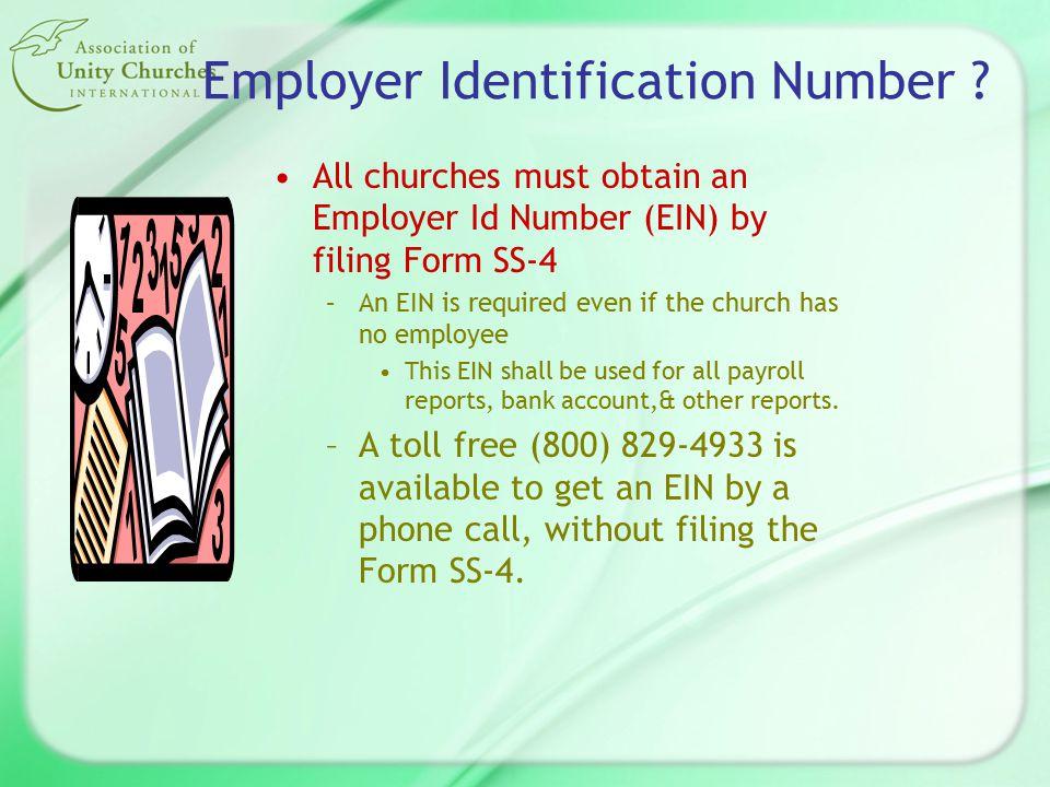 Form SS-4 (www.irs.ustreas.gov)