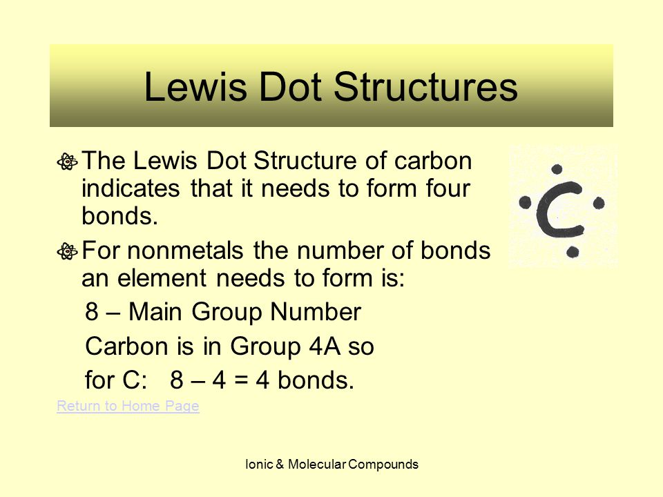 Ionic & Molecular Compounds Lewis Dot Structures Now what happens when we try to draw the Lewis Dot Structure of O 2 .