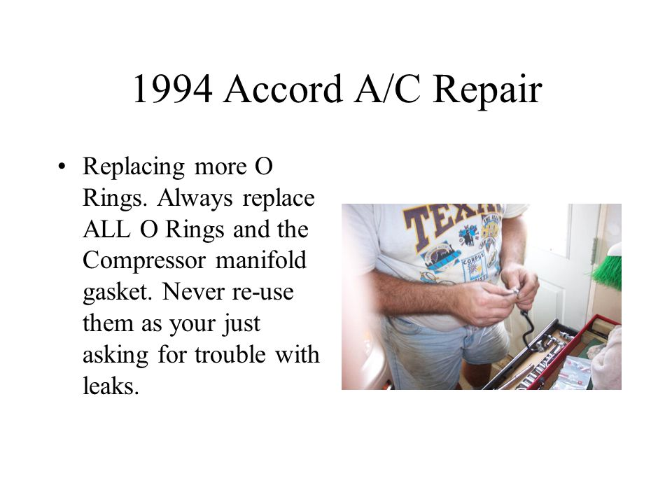 1994 Accord A/C Repair Replacing more O Rings.
