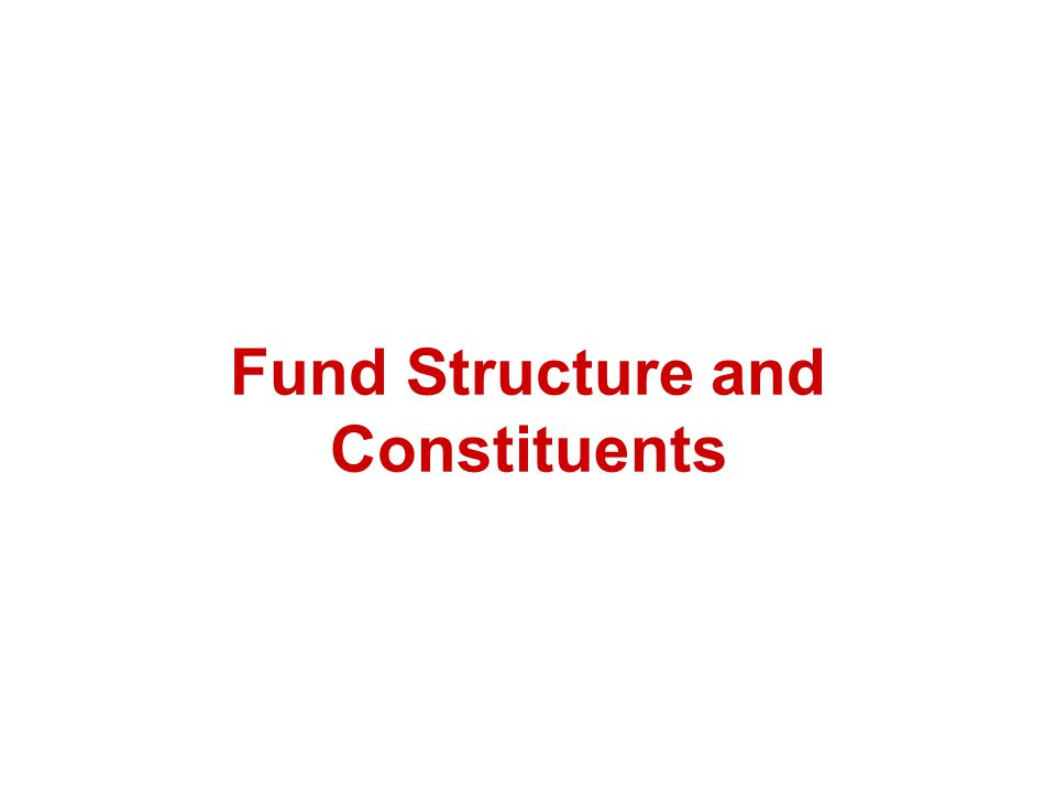 Fund Structure and Constituents