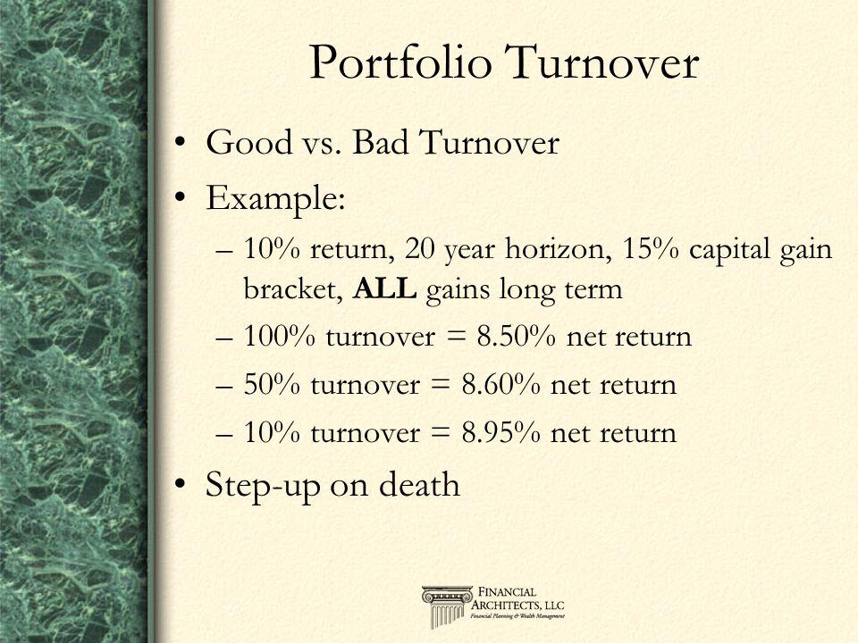Portfolio Turnover Good vs.