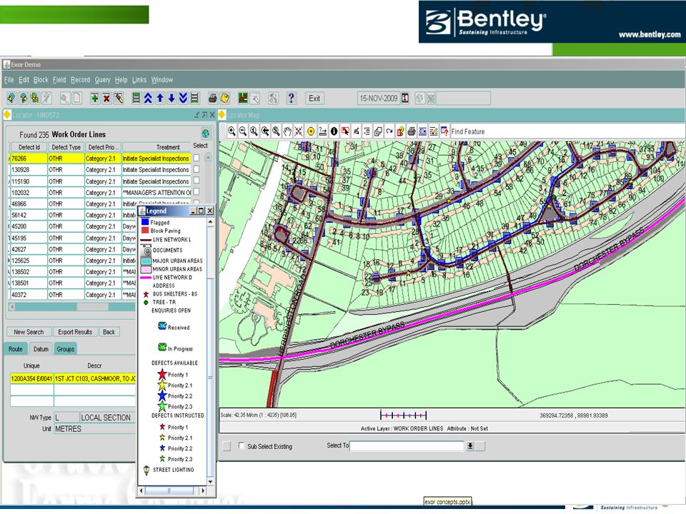 © 2012 Bentley Systems, Incorporated 24 | WWW.BENTLEY.COM India Geospatial Forum –February 2012 Data Displayed with Integrated Mapping