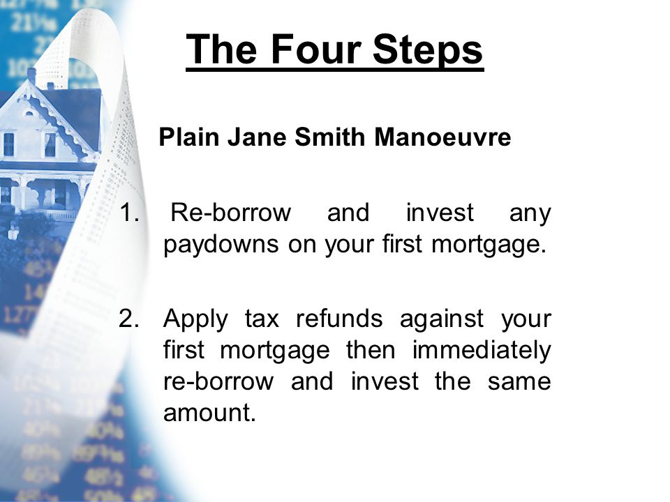 The Four Steps Plain Jane Smith Manoeuvre 1.