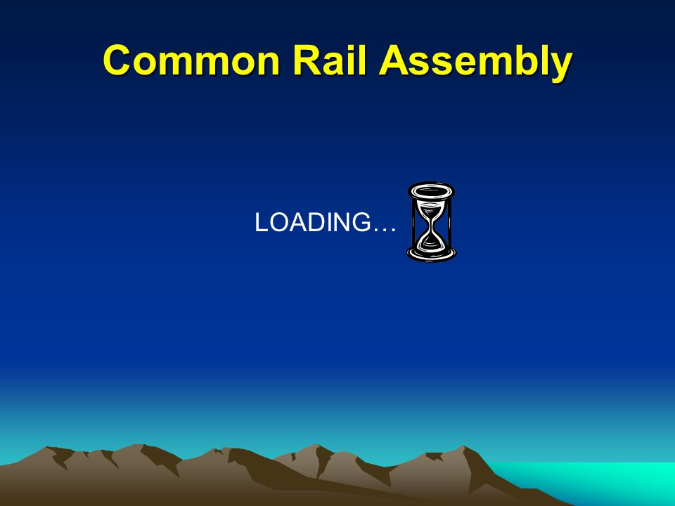 LOADING… Common Rail Assembly