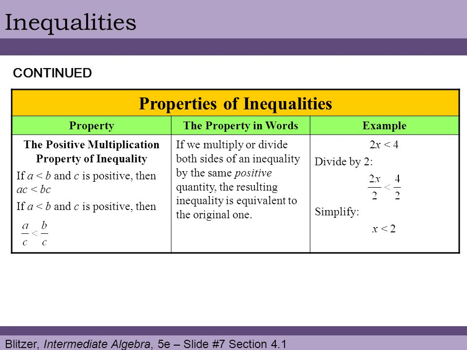 Blitzer, Intermediate Algebra, 5e – Slide #18 Section 4.1 Linear Inequalities 2) Represent other quantities in terms of x.