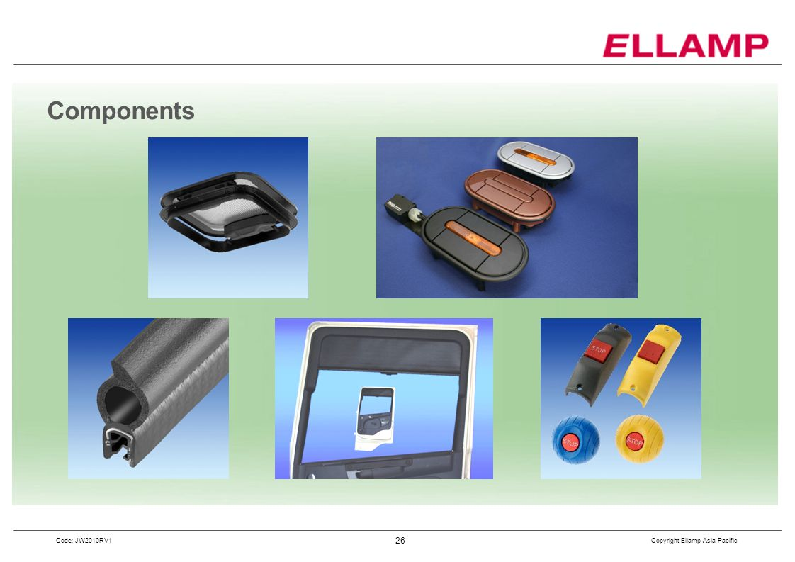 Copyright Ellamp Asia-Pacific 26 Code: JW2010RV1 Components