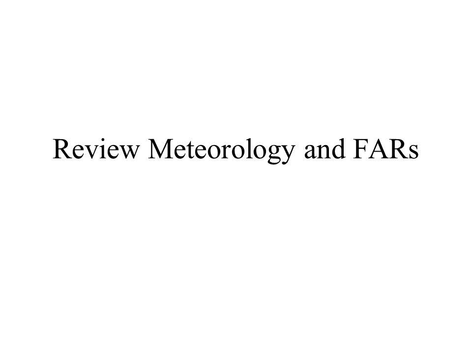 Meteorology/FAR and Review www.sal.ksu.edu/faculty/kingb