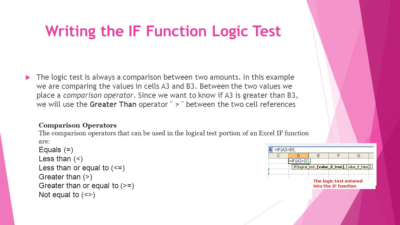 Adding the Value if True argument to the IF Function Following our comma separator, we add in the value if true argument of the IF function followed by another comma separator.