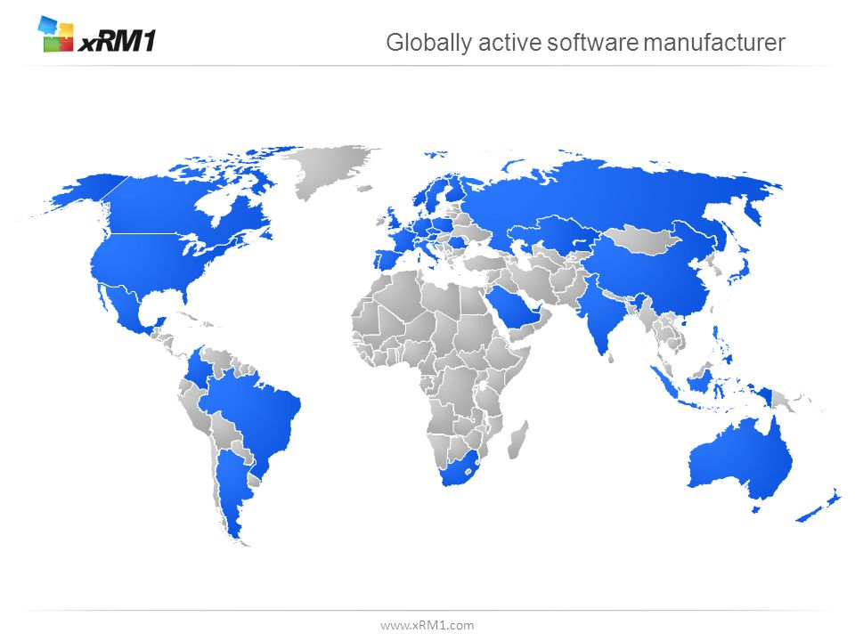 www.xRM1.com Globally active software manufacturer