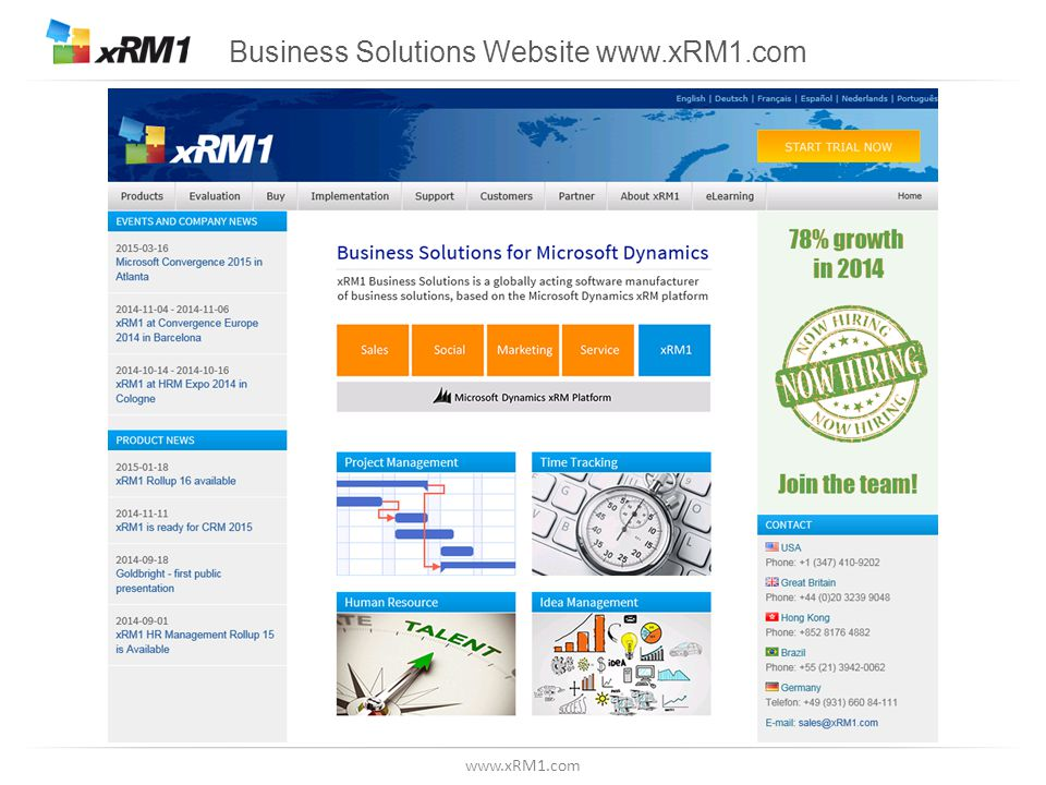www.xRM1.com Complete Solution for Recruiting, Managing & Developing Employees in Outlook