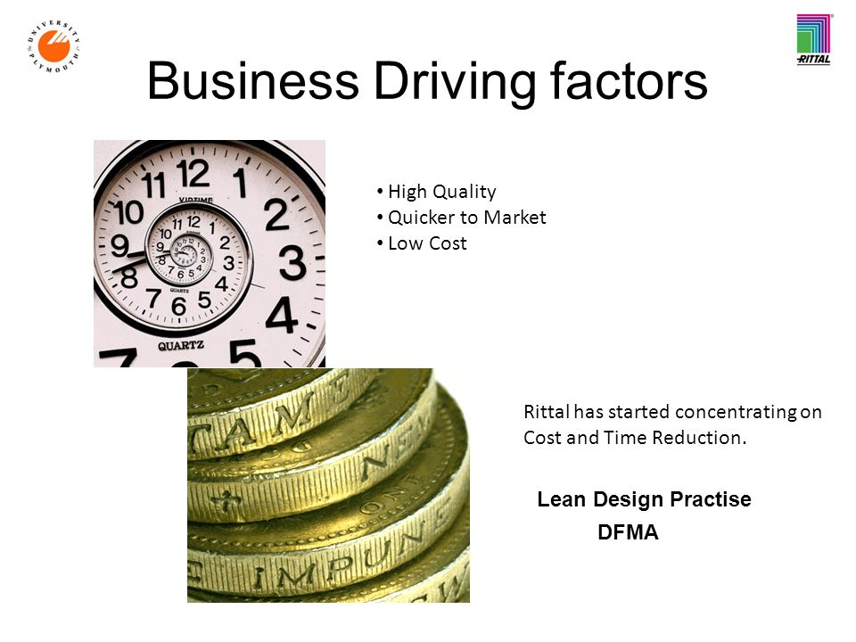 Business Driving factors Rittal has started concentrating on Cost and Time Reduction.