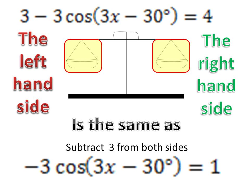 Subtract 3 from both sides