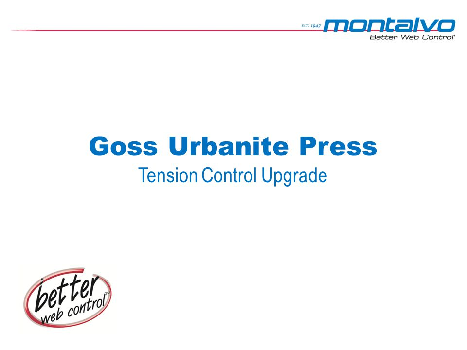Goss Urbanite Press Tension Control Upgrade