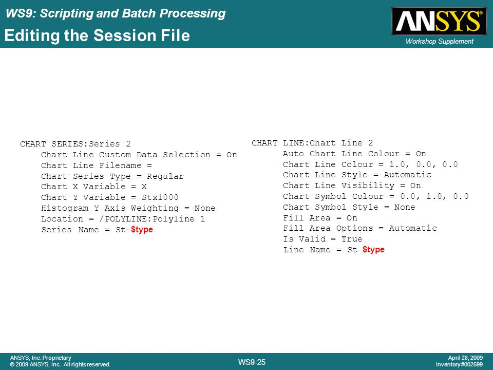 WS9: Scripting and Batch Processing WS9-25 ANSYS, Inc.