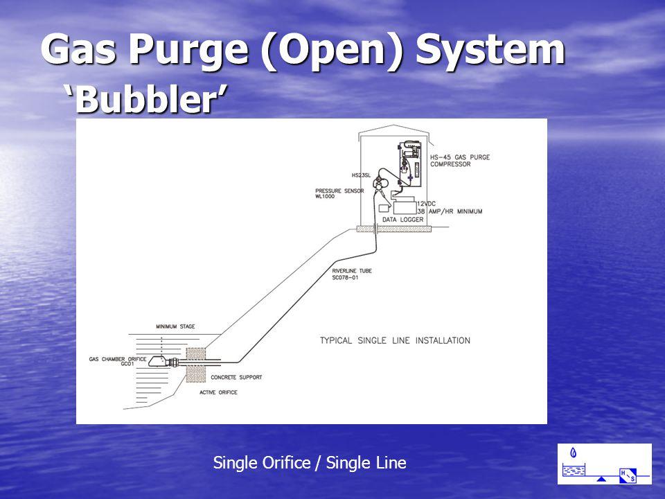 Gas Purge (Open) System 'Bubbler' Single Orifice / Single Line