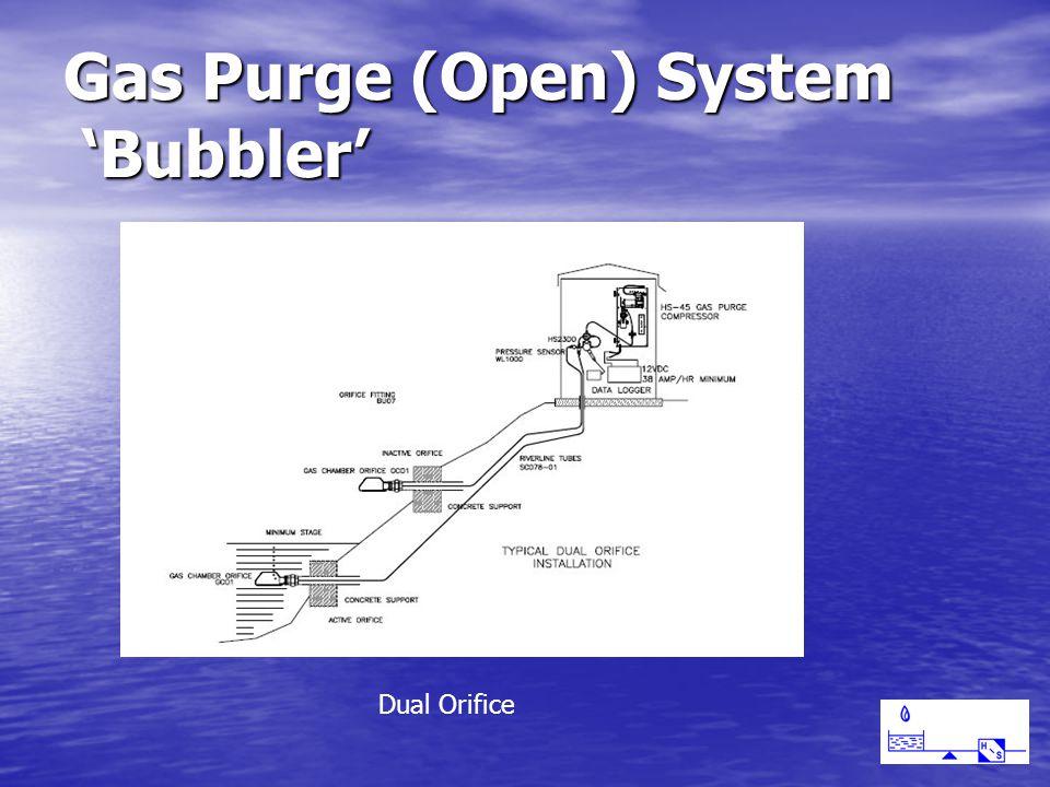 Gas Purge (Open) System 'Bubbler' Dual Orifice