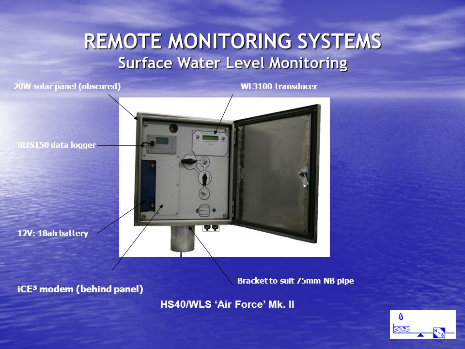 REMOTE MONITORING SYSTEMS Surface Water Level Monitoring HS40/WLS 'Air Force' Mk.