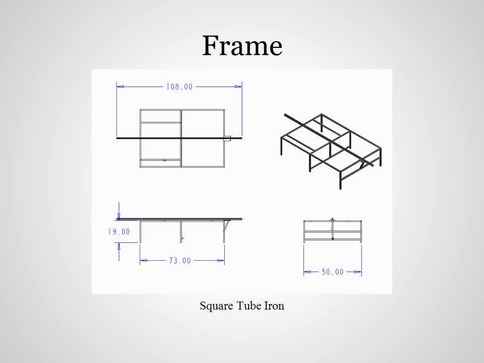 Square Tube Iron Frame