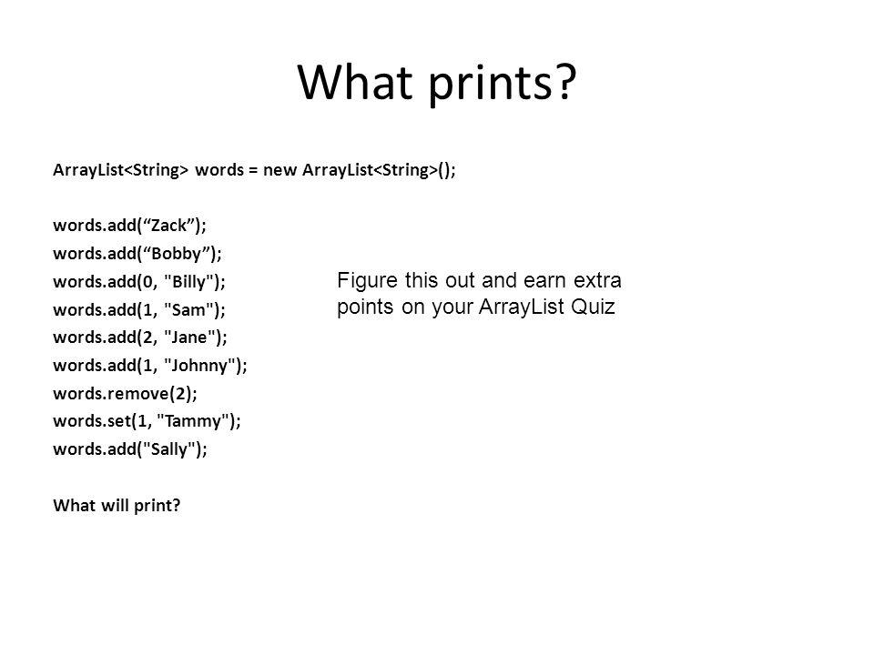What prints.