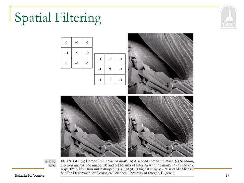 Bahadir K. Gunturk19 Spatial Filtering