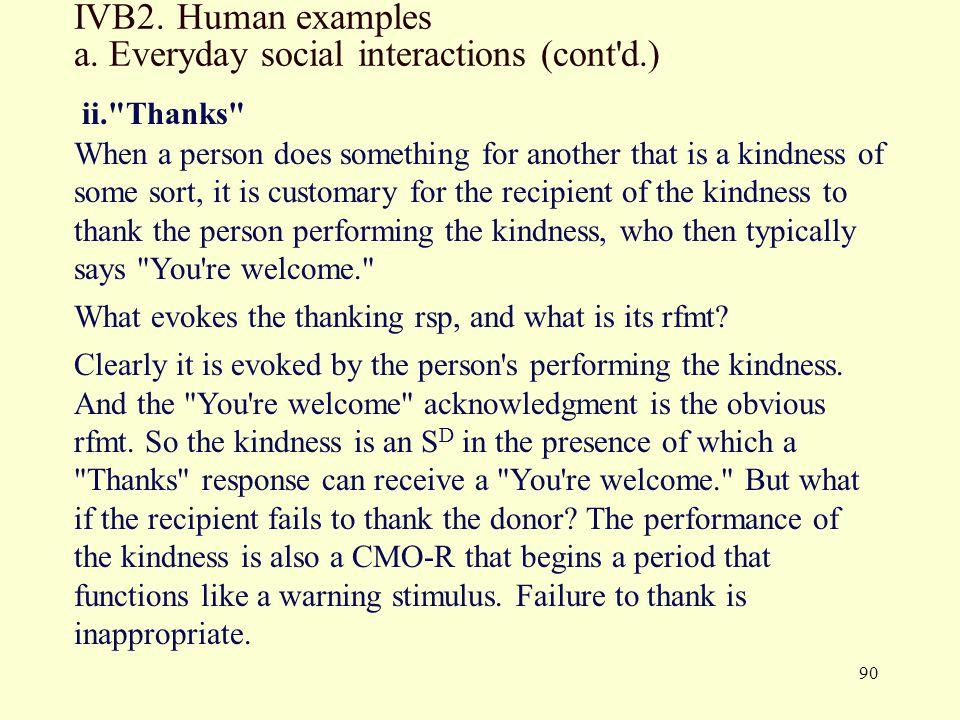90 IVB2.Human examples a.