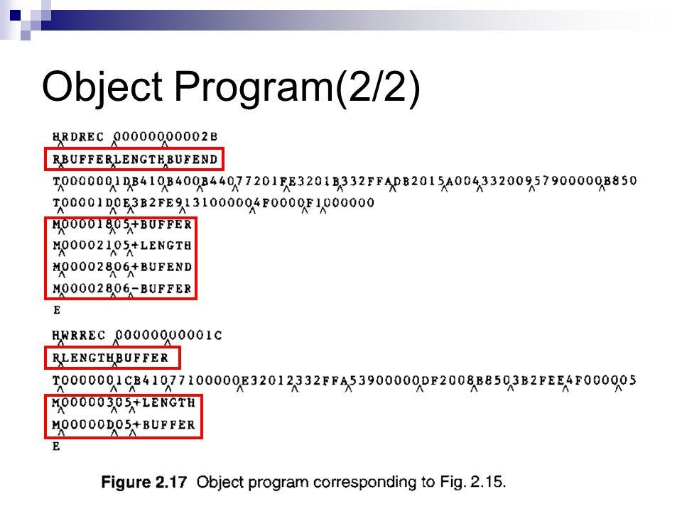 Object Program(2/2)