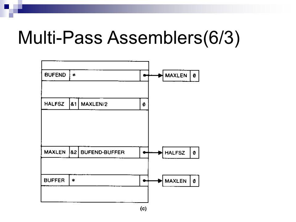 Multi-Pass Assemblers(6/3)
