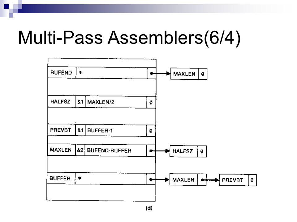 Multi-Pass Assemblers(6/4)