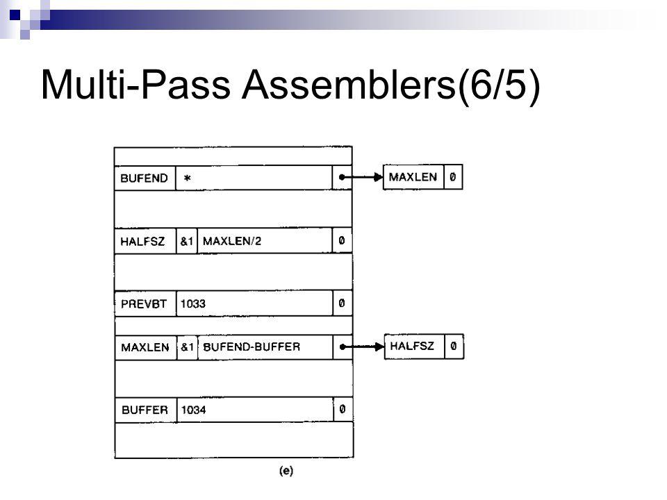 Multi-Pass Assemblers(6/5)