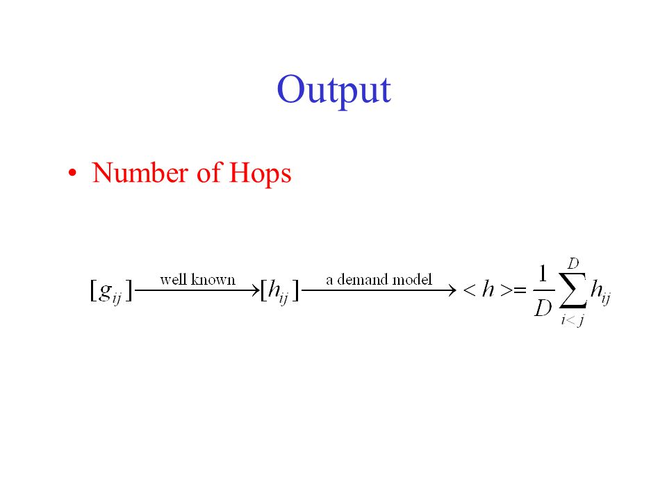 Output Number of Hops