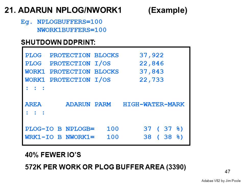47 21.ADARUN NPLOG/NWORK1 (Example) Eg.