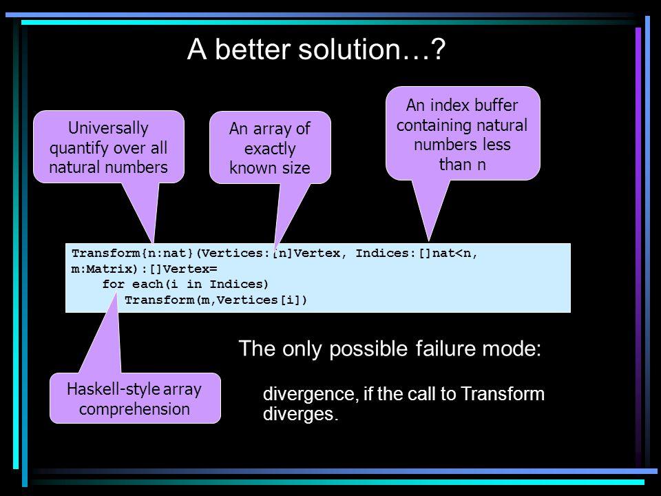 A better solution….