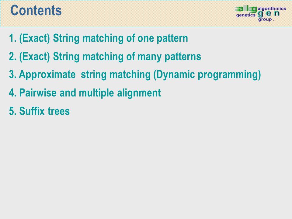 SBOM algorithm: example Search for the patterns ATGTATG, TAATG,TAATAAT i AATGTG GGATT T T A G A T A A 14 23 ACATGCTAGCTATAATAATGT… A