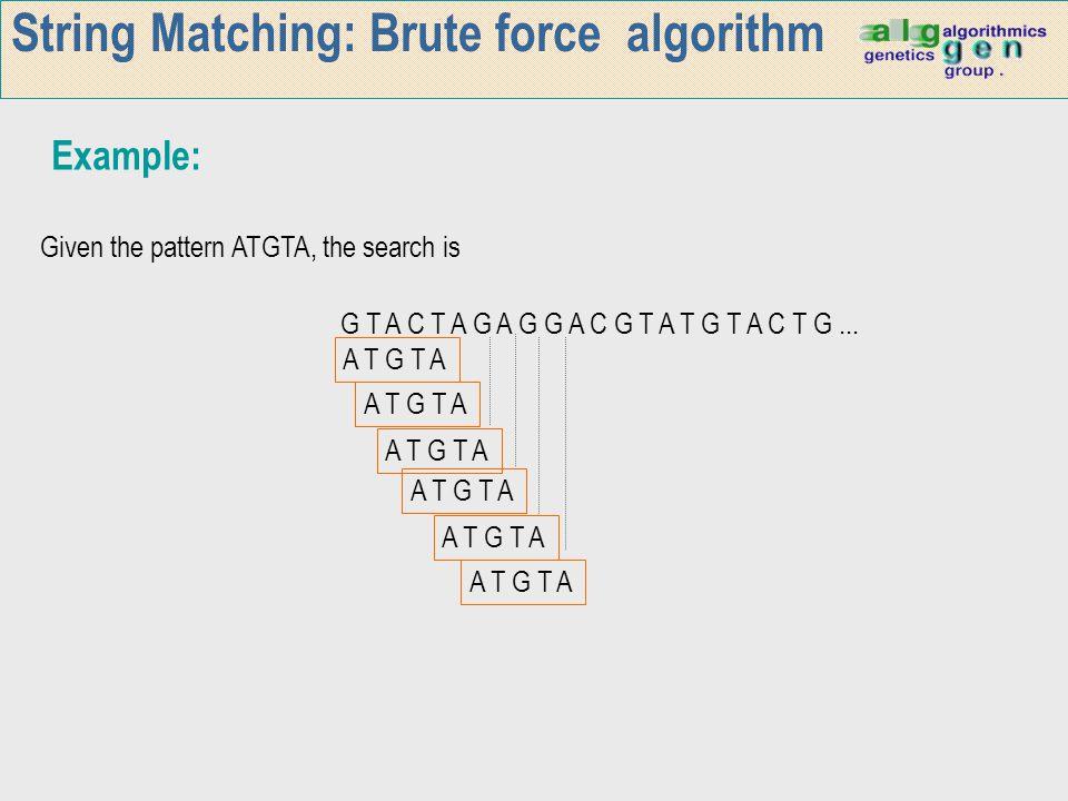 Wu-Manber algorithm Search for ATGTATG,TATG,ATAAT,ATGTG T A A G G A T T T T G A A A A T into the text: ACATGCTATGTGACATAATA … AA 1 AT 1 GT 1 TA 2 TG 2 Experimental length: log  Σ  2*lmin*r