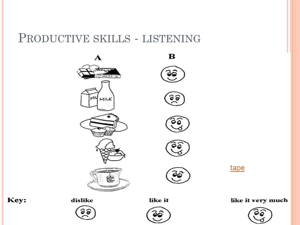 P RODUCTIVE SKILLS - LISTENING tape