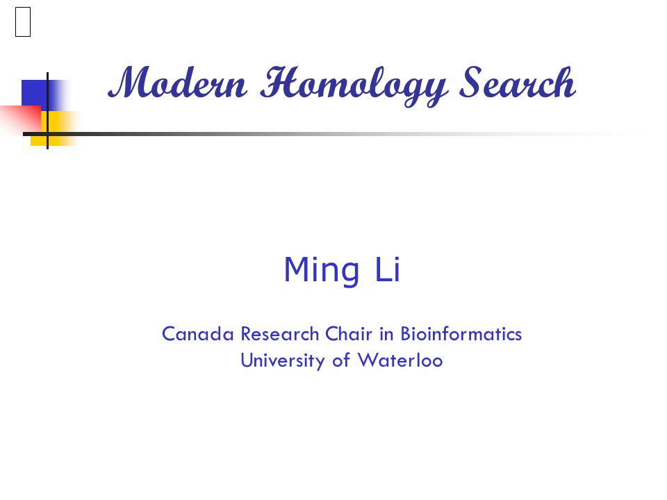 Modern Homology Search ~100% sensitivity, approaching to dynamic programming.