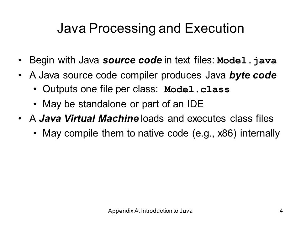 Appendix A: Introduction to Java25 The String Class The String class defines a data type that is used to store a sequence of characters You cannot modify a String object If you attempt to do so, Java will create a new object that contains the modified character sequence