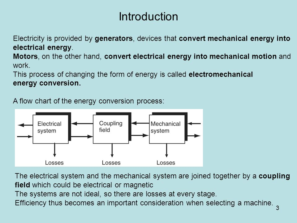 Motor: An eclectic current interacts with a magnetic field to cause an electromagnetic torque, which drives some load.