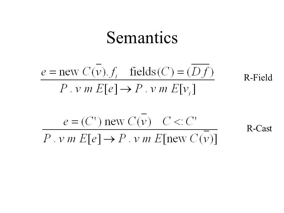 Semantics R-Field R-Cast
