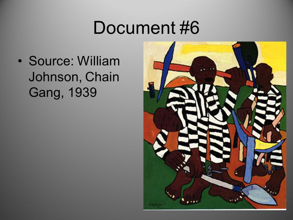 Document #6 Source: William Johnson, Chain Gang, 1939