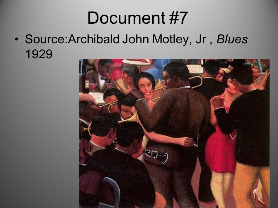 Document #7 Source:Archibald John Motley, Jr, Blues 1929