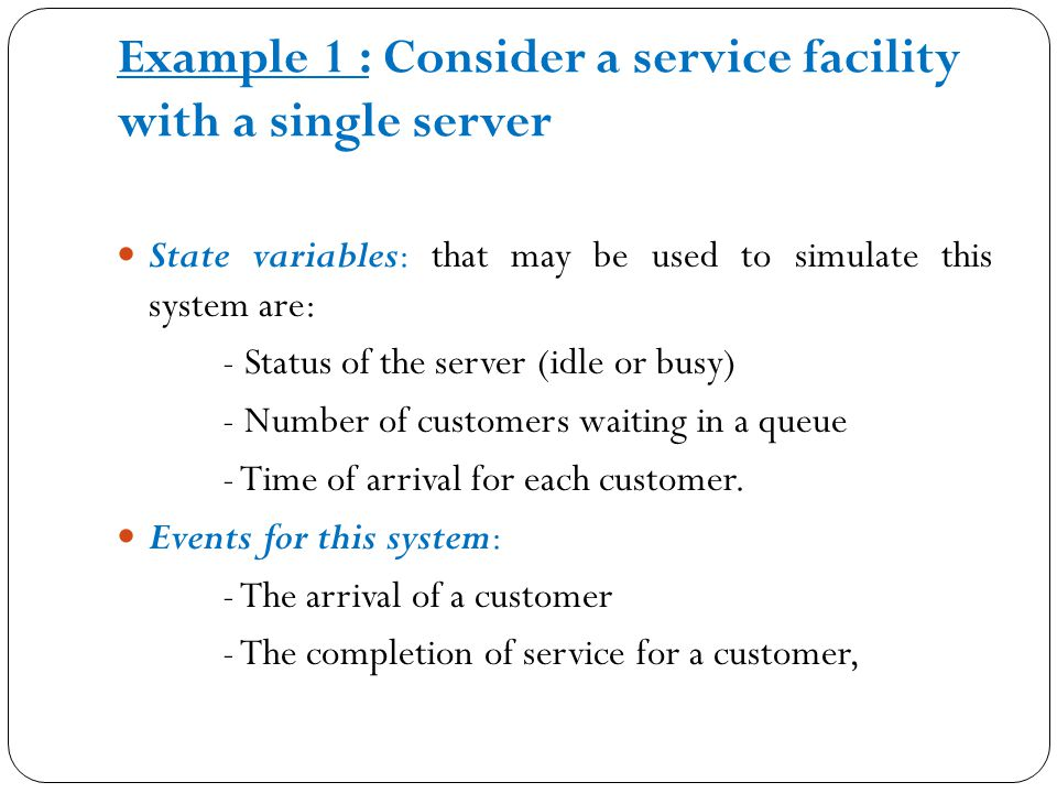 Simulation of A Single-Server Queuing System Problem Statement Consider a single-server queuing system :
